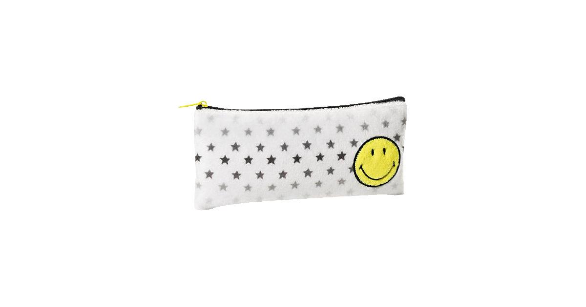 Plüsch-Schlampermäppchen Smiley gelb/Sterne
