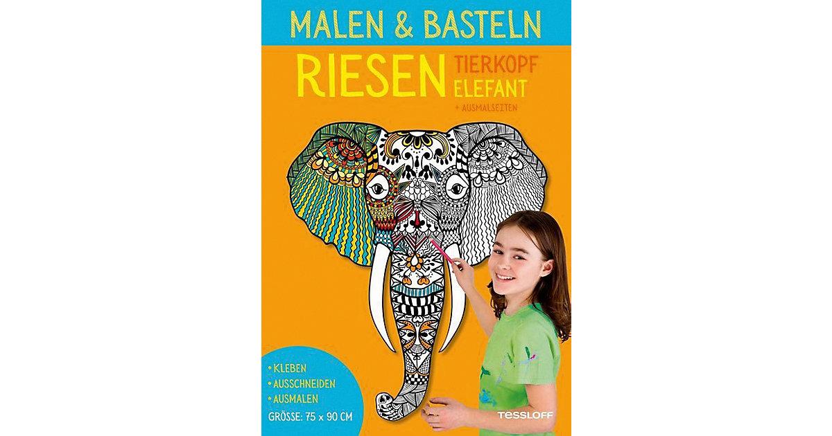 Malen & Basteln: RIESEN Tierkopf Elefant