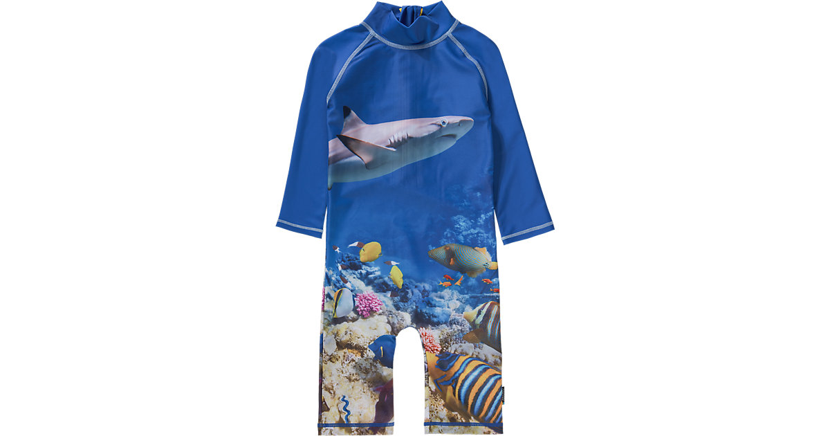 Kinder Schwimmanzug mit UV-Schutz blau Gr. 98/104 Jungen Kleinkinder