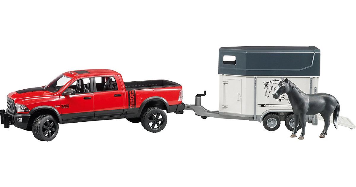 BRUDER 02501 RAM 2500 Power Wagon mit Pferdetrailer und Pferd