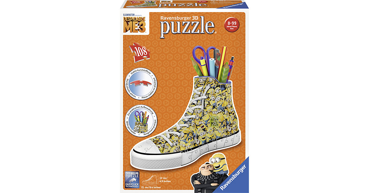 3D Puzzle Sneaker 108 Teile Minions Ich - einfa...