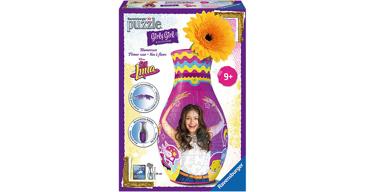 3D Puzzle 216 Teile Girly Girl Blumenvase Soy Luna