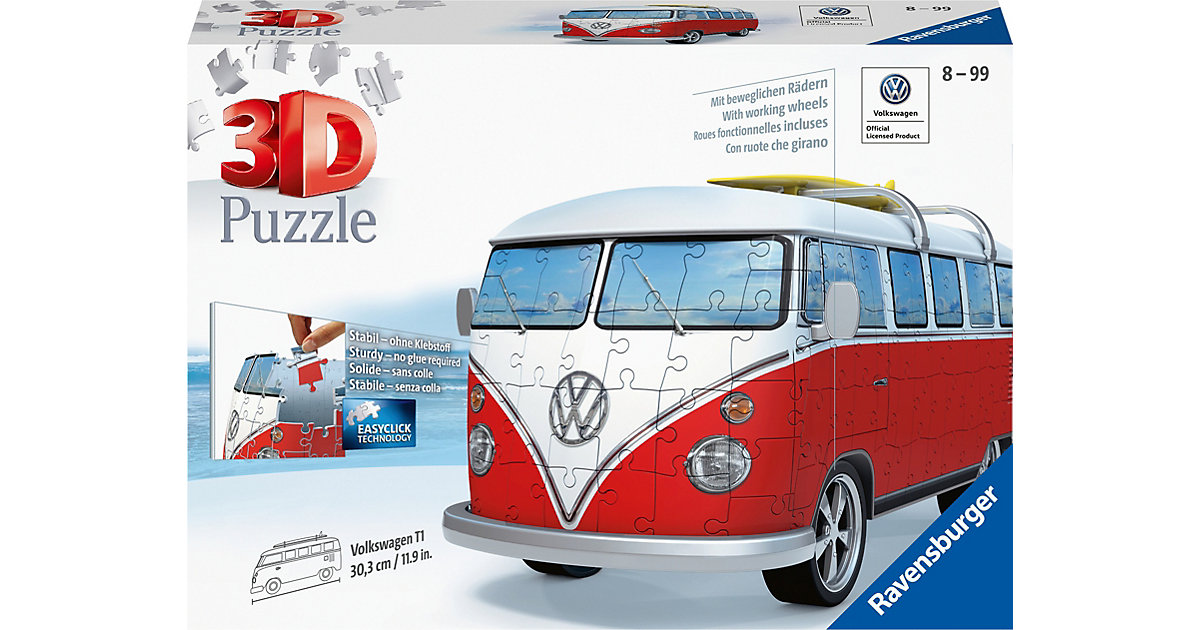 3D Puzzle VW Bus T1 Surfer Edition