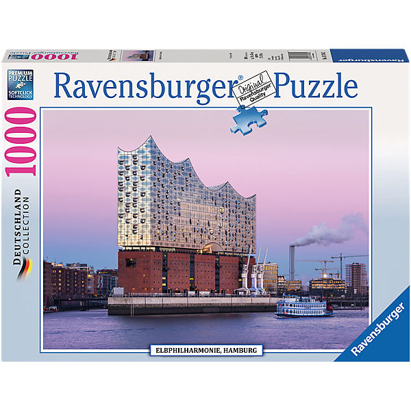 Puzzle 1000 Teile Elbphilharmonie Hamburg, Ravensburger