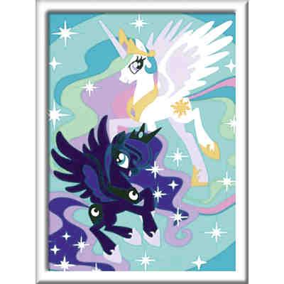 Malen Nach Zahlen 13x18 Cm Mit Farbigen Motivlinien My Little Pony Magie Der Freundschaft My Little Pony