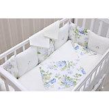 Детское постельное белье GulSara 3 предмета, Цветы, белый
