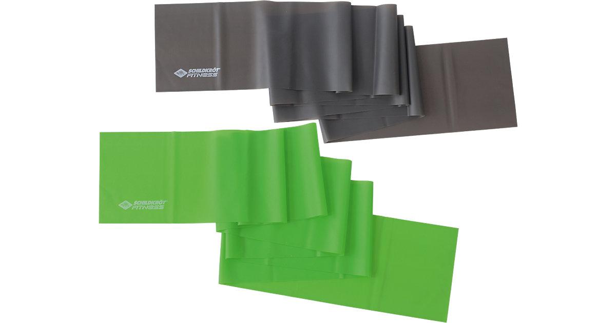 Fitnessbänder 2er Set (Latexfrei) grün/anthrazit