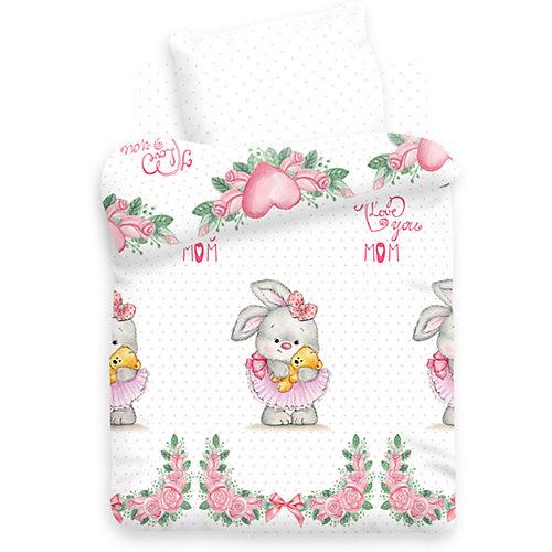 Детское постельное белье 3 предмета Непоседа, Зайка балерина - розовый от Непоседа