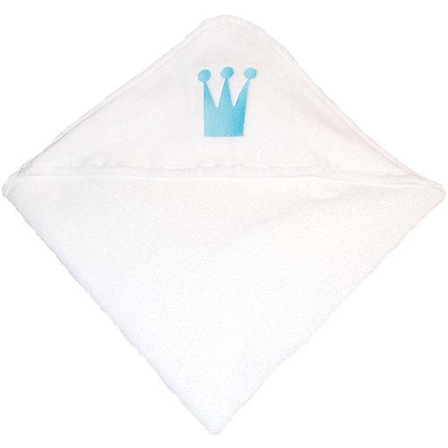 Комплект: нагрудник и полотенце 75х81 Wallaboo, голубой от Wallaboo