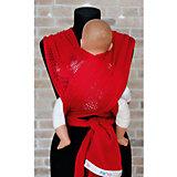Слинг-шарф из хлопка плетеный размер s-m, Филап, Filt, красный