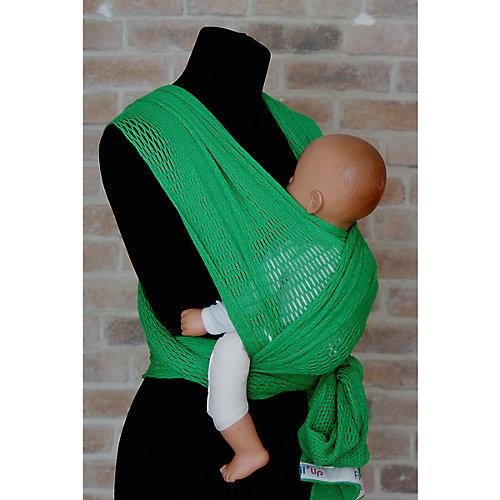 Слинг-шарф из хлопка плетеный размер s-m, Филап, Filt, зеленый от Filt