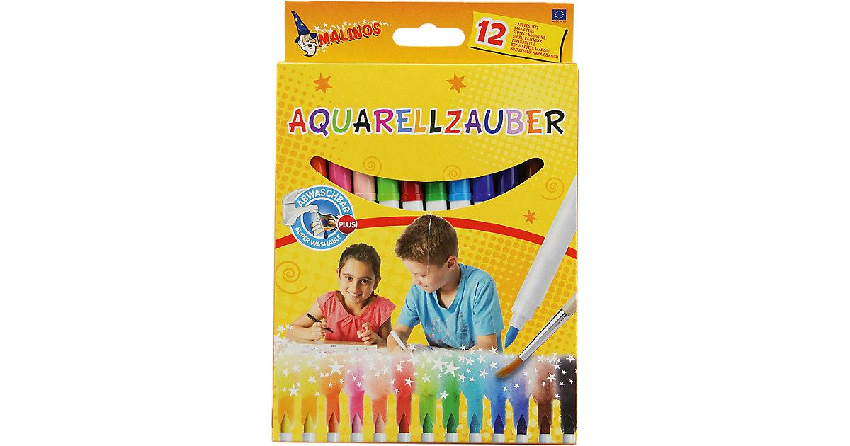 Malinos Aquarellzauber - 12 wasservermalbare Filzstifte