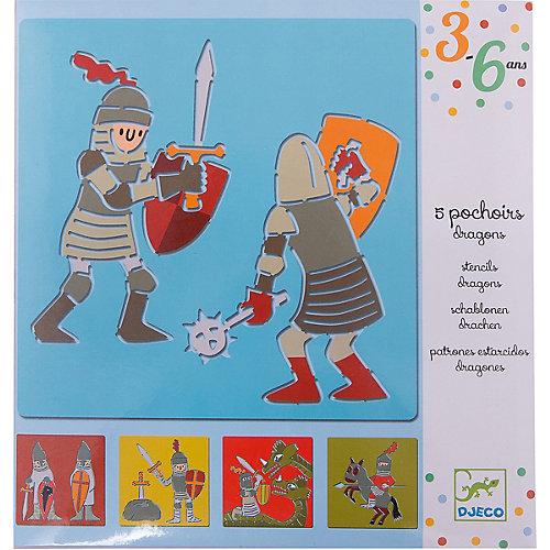 Набор трафаретов «Рыцари», DJECO от DJECO
