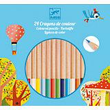 Цветные карандаши 24 шт., DJECO