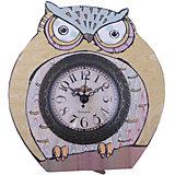 """Часы настольные """"Мудрый филин"""" кварцевые, с циферблатом, Феникс-Презент"""