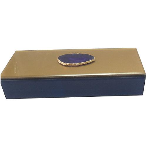 """Шкатулка """"Фиолетовый агат"""" из стекла для мелочей, Феникс-Презент от Феникс-Презент"""