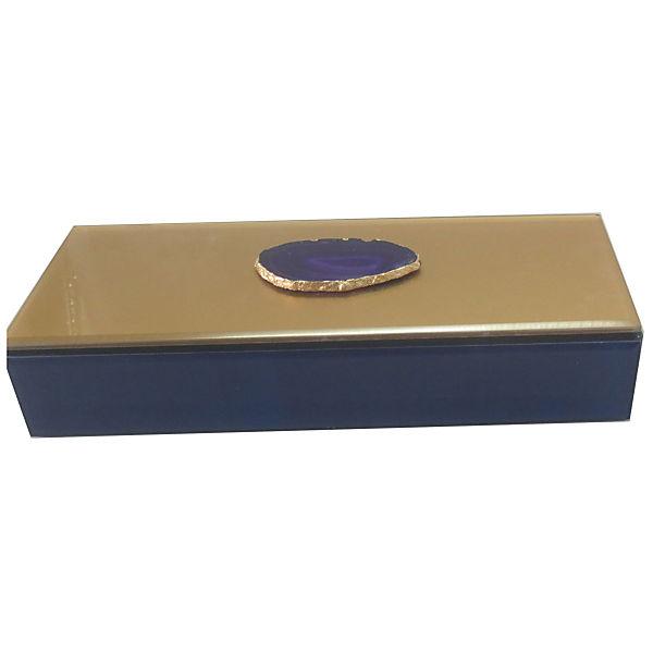 """Шкатулка """"Фиолетовый агат"""" из стекла для мелочей, Феникс-Презент"""