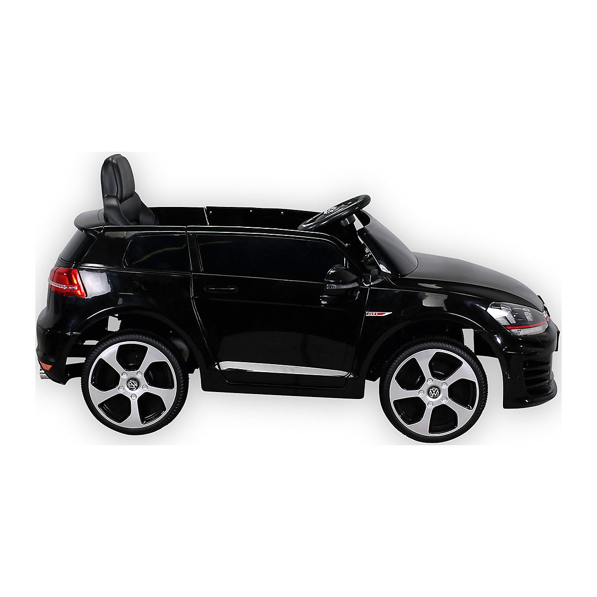 kinder elektroauto vw golf lizenziert schwarz mytoys. Black Bedroom Furniture Sets. Home Design Ideas