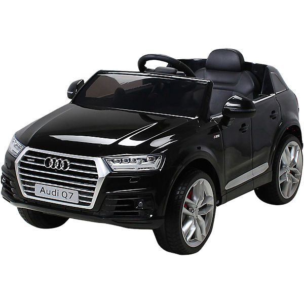 kinder elektroauto audi q7 2016 suv lizenziert schwarz. Black Bedroom Furniture Sets. Home Design Ideas