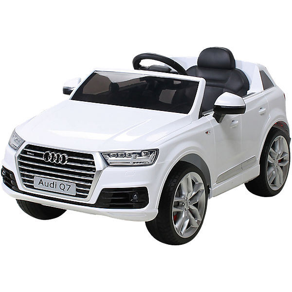 kinder elektroauto audi q7 2016 suv lizenziert wei mytoys. Black Bedroom Furniture Sets. Home Design Ideas