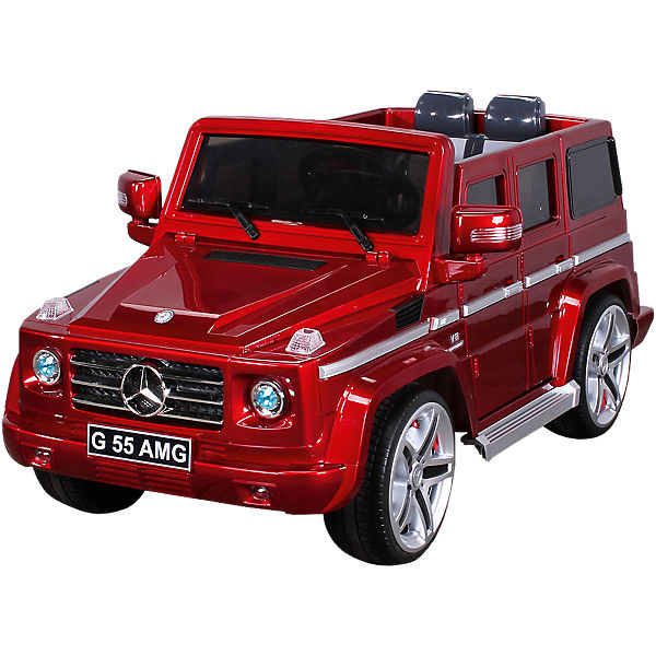 kinder elektroauto mercedes g55 amg lizenziert rot mytoys. Black Bedroom Furniture Sets. Home Design Ideas