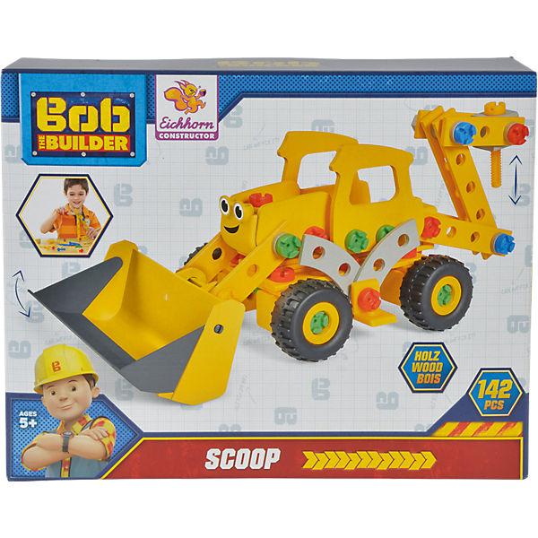Eichhorn Constructor - Bob der Baumeister Bagger Scoop, 142 tlg., Bob der Baumeister