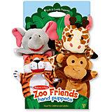 "Плюшевые куклы на руку ""Зоопарк"", Melissa & Doug"