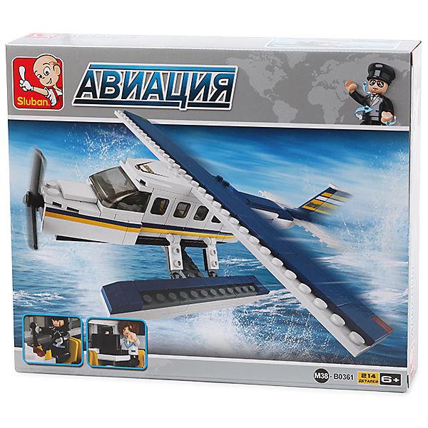 "Конструктор ""Авиация: Самолёт-амфибия"", 214 деталей, Sluban"