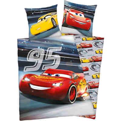 Wende Kinderbettwäsche Disney Cars Renforcè 100 X 135 Cm Disney