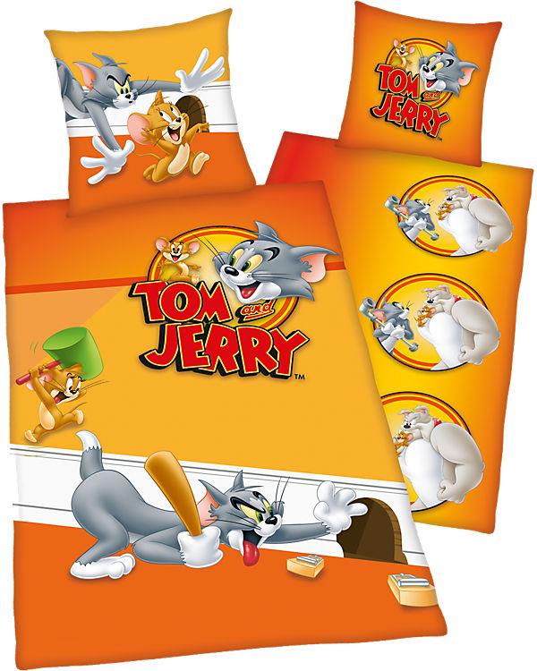Wende Kinderbettwäsche Tom Jerry Renforcé 135 X 200 Cm Tom