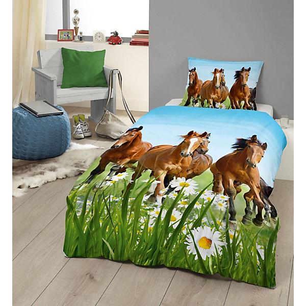 pferdebettw sche kinderbettw sche pferde renforc 135. Black Bedroom Furniture Sets. Home Design Ideas