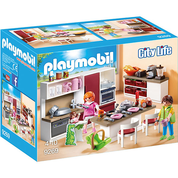 PLAYMOBIL® 9269 Große Familienküche, PLAYMOBIL City Life   myToys