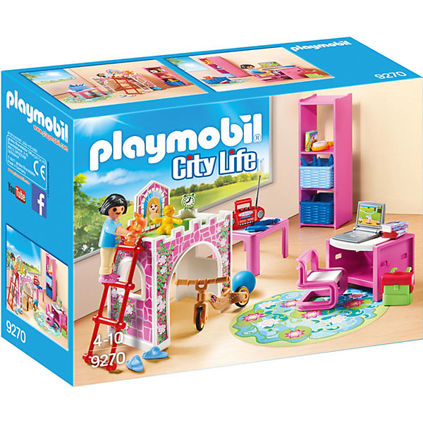 Playmobil 9270 fr hliches kinderzimmer playmobil city for Kinderzimmer play 01