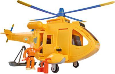 Film- & TV-Spielzeug Simba 109251002 Feuerwehrmann Sam Hubschrauber Wallaby II mit Figur günstig kaufen