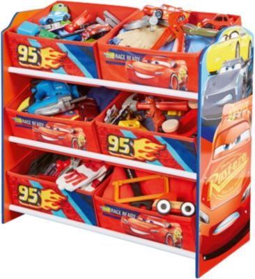 6 Boxen Regal, Cars 3 ...