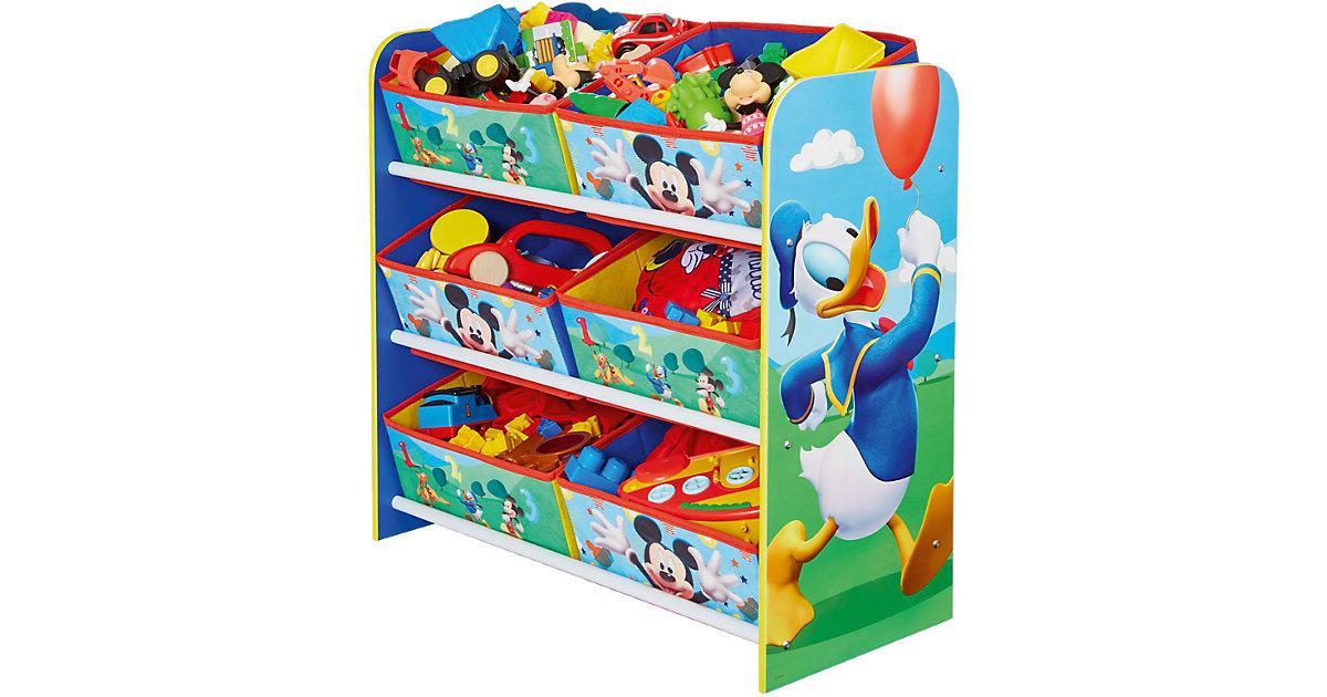 Image of 6-Boxen Regal, Mickey & Donald mehrfarbig