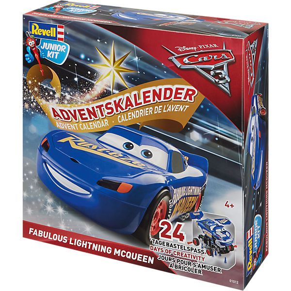 revell junior kit adventskalender lightning mcqueen disney cars mytoys. Black Bedroom Furniture Sets. Home Design Ideas