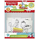 """Набор для игры в ванне """"Funny coloring"""", 12 раскрасок с мелками, Fisher Price"""