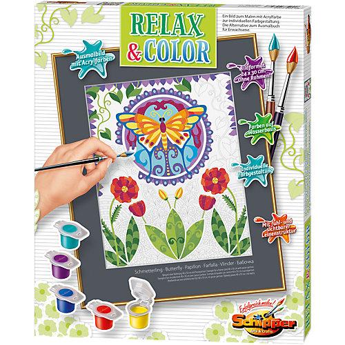 Schipper Malen nach Zahlen - Relax & Color ´´Schmetterling´´ Sale Angebote Grabko