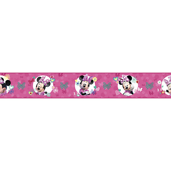 Bordüre Disney Minnie Mouse, rosa, 4,57 m x 22,86 cm, Disney Minnie Mouse