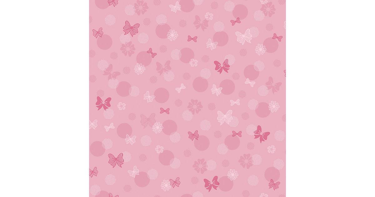 Tapete Disney Minnie Schleifen, rosa, 10 m x 52 cm