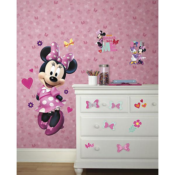 Wandsticker Schleifen, Disney Minnie, 4 Stk., rosa, Disney Minnie ...