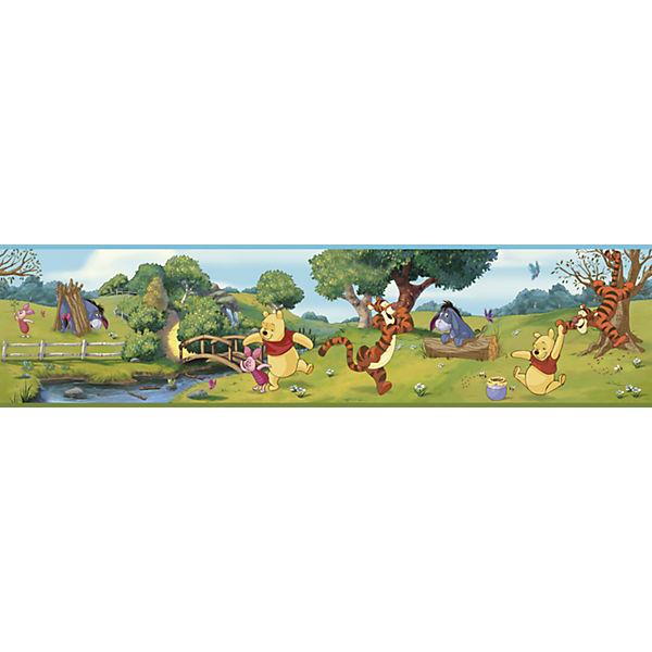 Bordüre Winnie Puuh, bunt, 4,57 m x 22,86 cm, Disney Winnie Puuh ...