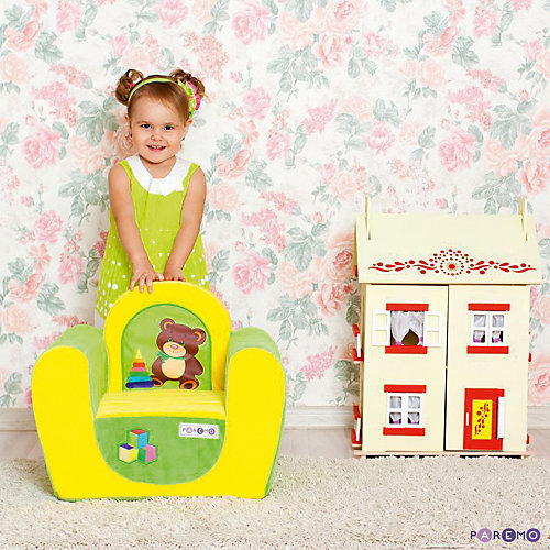 Игровое кресло Paremo Медвежонок, жёлтое от PAREMO