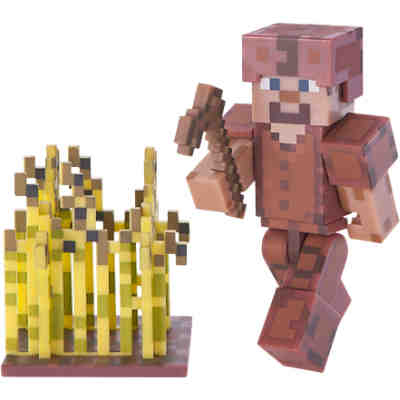 Minecraft Steve In Lederrustung Mit Accessoires Minecraft Mytoys
