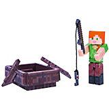 Игровая фигурка Jazwares Minecraft Alex with Boat,  8 см