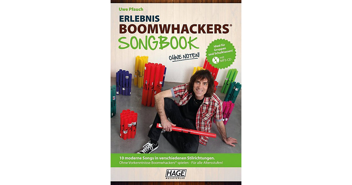 Erlebnis Boomwhackers Songbook, mit MP3-CD