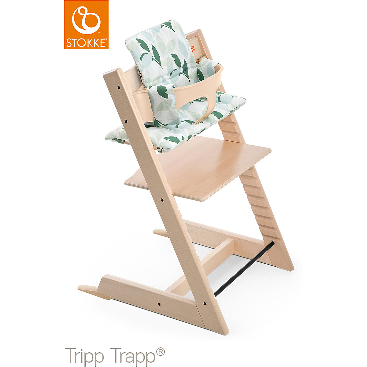 tripp trapp sitzkissen green forest beschichtet stokke mytoys. Black Bedroom Furniture Sets. Home Design Ideas