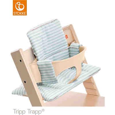 tripp trapp sitzkissen aqua stripes beschichtet stokke mytoys. Black Bedroom Furniture Sets. Home Design Ideas