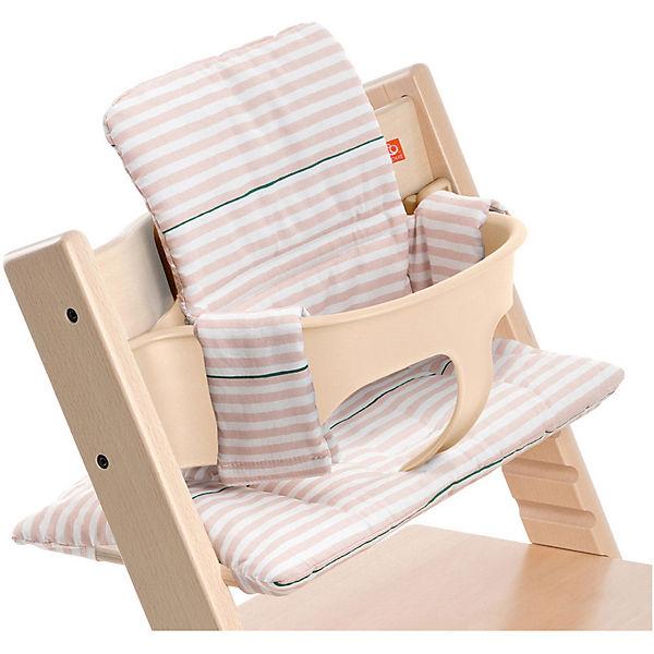 tripp trapp sitzkissen pink stripes beschichtet stokke mytoys. Black Bedroom Furniture Sets. Home Design Ideas